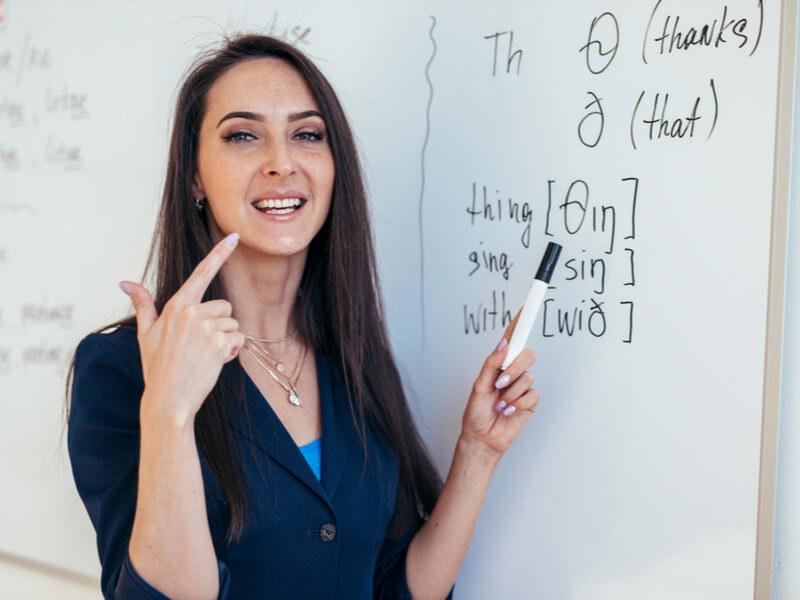 発音記号と女性