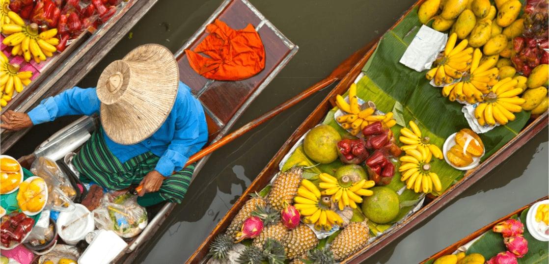 タイの船上市場