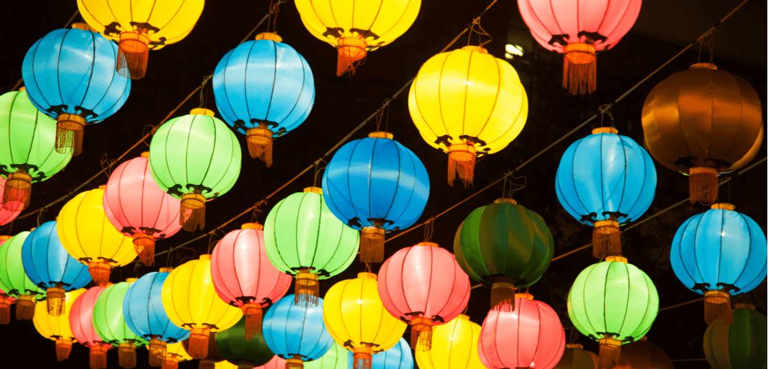 上海の提灯