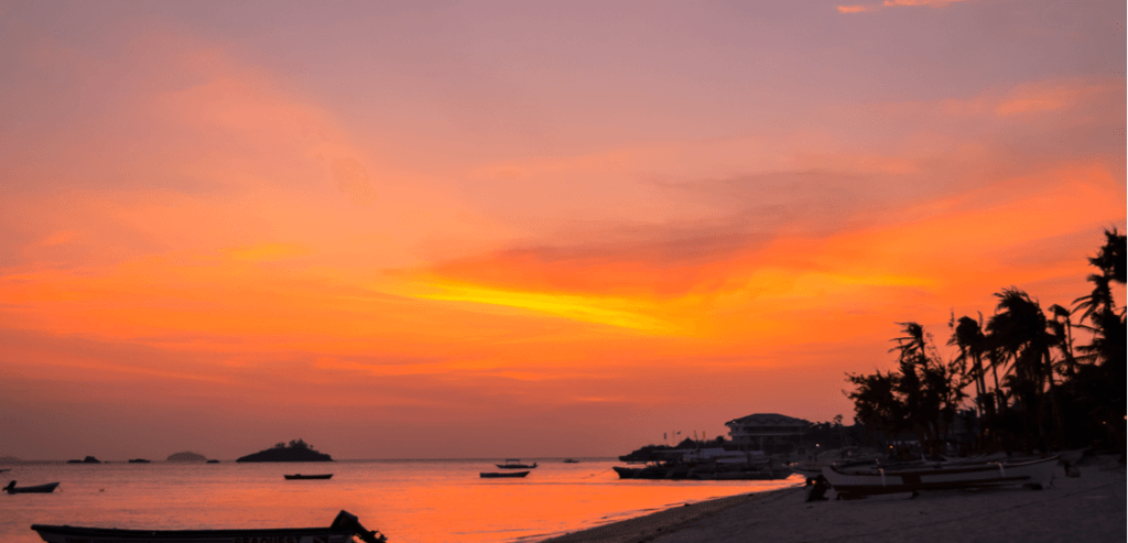 セブ島の夕日